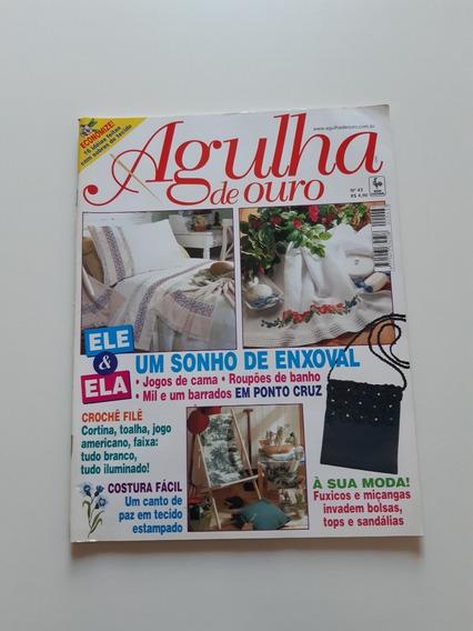 Revista Agulha De Ouro Ponto Cruz Enxoval Jogos De Cama D679
