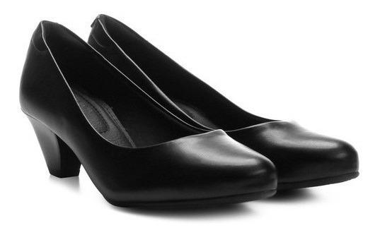 Sapato Social Feminino Branco Marinha