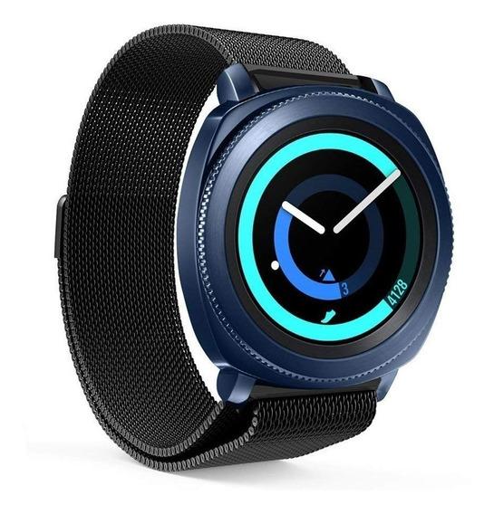 Pulseira Samsung Gear Sport Milanesa Aço Inox + Película