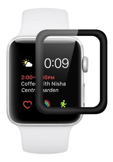 Lamina Protectora Vidrio 3d Apple Watch 38 40 42 Y 44 Mm
