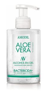 Alcohol En Gel Con Aloe Vera Amodil Bomba Dosificadora 210ml