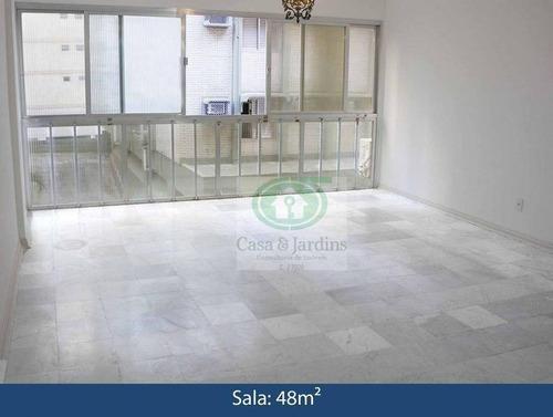 Apartamento Com 3 Dormitórios À Venda, 117 M² Por R$ 580.000,00 - Aparecida - Santos/sp - Ap6605