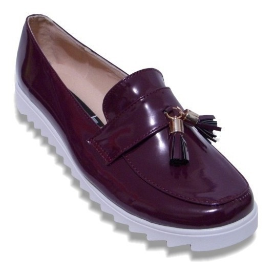 Zapato Antifaz Campana Durable Suave J Villegas Charol Negro