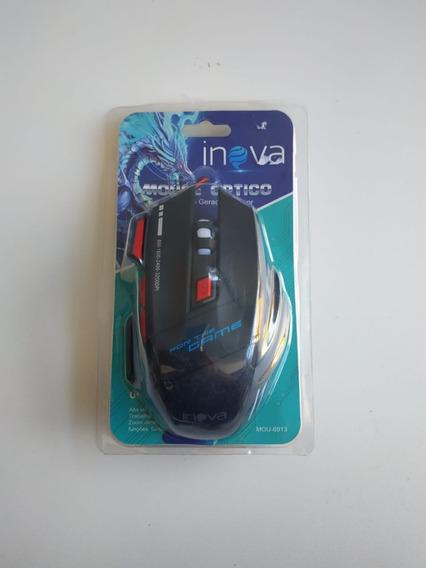 Novo Mouse Gamer Inova 7 Botões 3200 Dpi