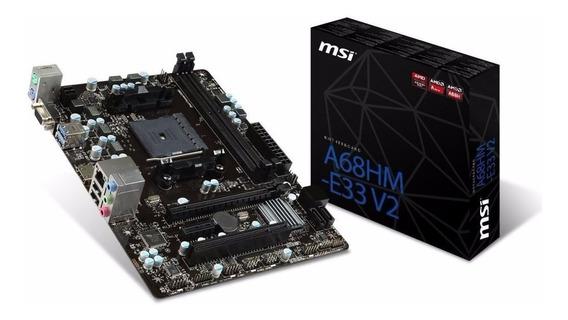Kit A6 7480 A68h Amd 4gb Ddr3 Placa Mãe Processador Memoria