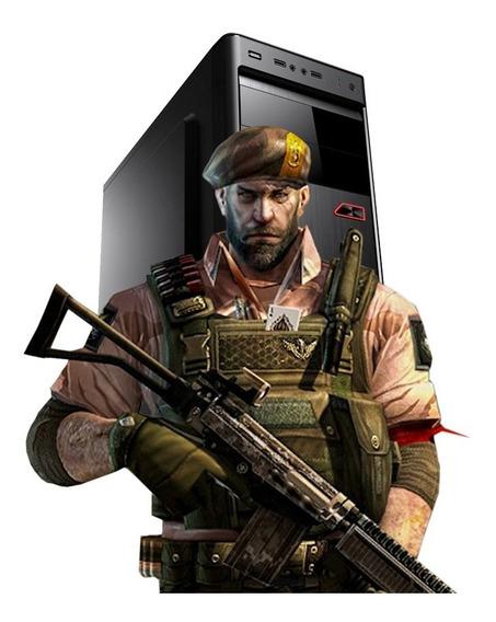 Pc Gamer Strike Core 2 Quad, 8gb Ram, Gt 710 +brinde +jogos