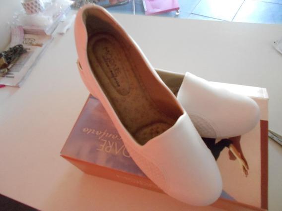 Sapato Feminino Branco Anabela