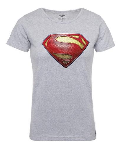 Franela Camisa Super Man ( Mujer ) - Alta Calidad