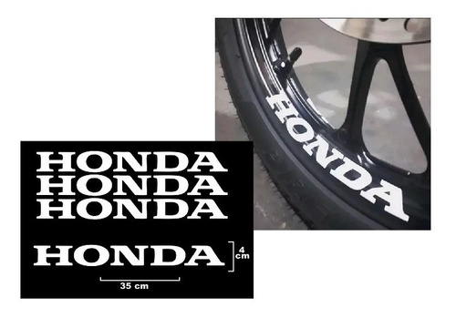 4 Adesivo Premium Roda Honda Titan Fan Start 125 150 160