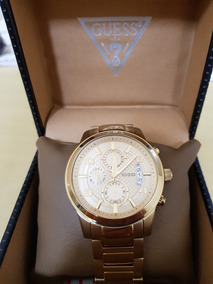 Relógio Guess U0075g5 Dourado Unissex Original.