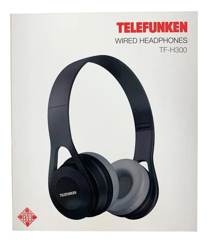 Fone Telefunken Tf-h300 Preto Headphone