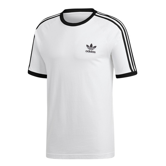 Remera adidas Originals 3 Bandas Blanco Hombre