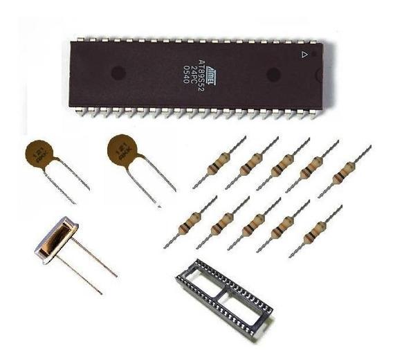 Kit Microcontrolador 89s52 (kit Didático) Completo ( 8051 )