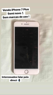 iPhone 7 Plus 32 Gb , Rose , Aparelho Semi Novo
