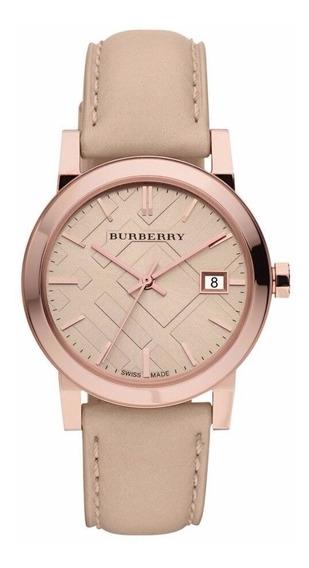 Reloj Burberry The City Acero Piel Beige Mujer Bu9109