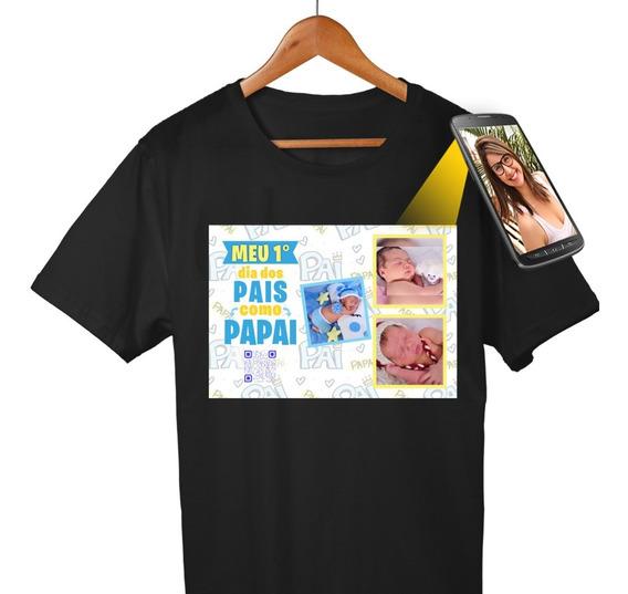 Camiseta Personalizada Dia Dos Pais Com Foto E Vídeo