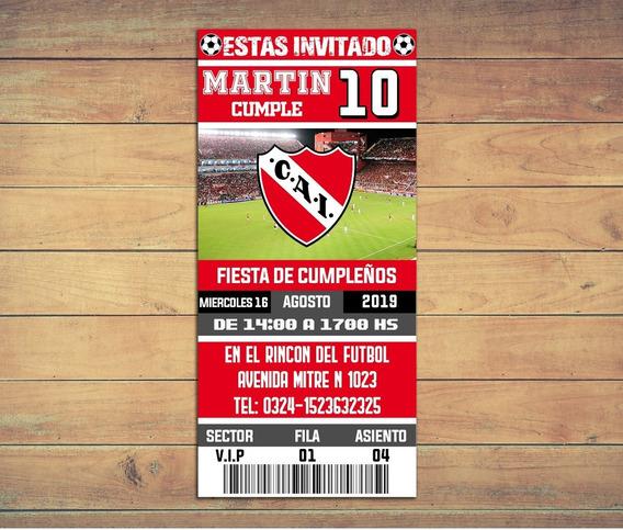 Invitaciones Independiente - Texto Editable