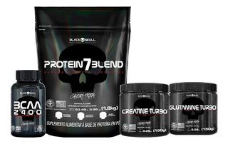Kit Protein 7 Blend + Bcaa + Creatina + Glutamina