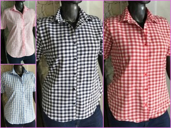 Camisas Cuadrille Mujer Modernas Talles Grandes Reales