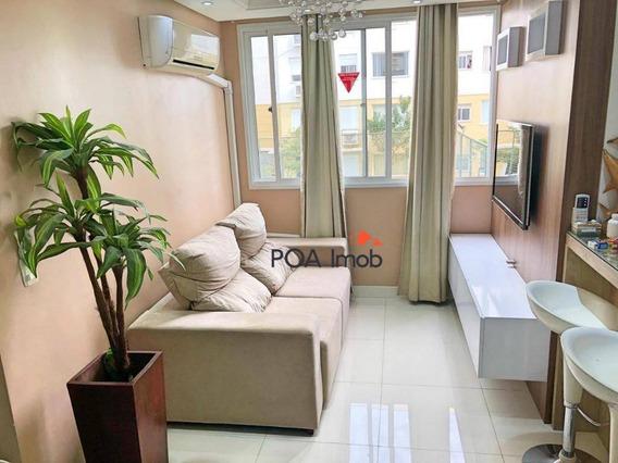 Apartamento Com 2 Dormitórios À Venda, 47 M² Por R$ 249.001,00 - Cristal - Porto Alegre/rs - Ap2974