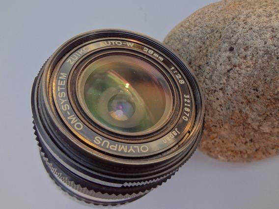 Objetiva Analógica Olympus 28mm 2.8+adaptador Sonynex