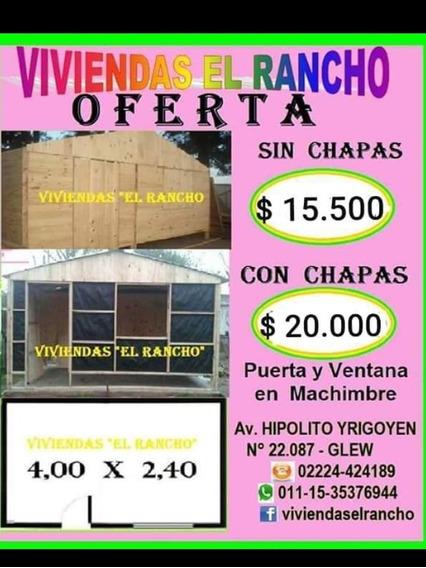 Casilla Para Revestir Techo Chapas De Zinc, Puerta Y Ventana