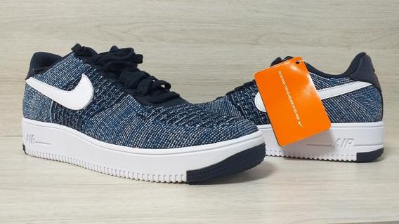 Tênis Nike 40 Flynit Azul Sem Uso Com Tecnologia Air