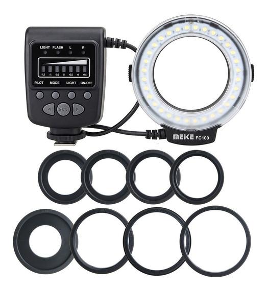 Iluminador E Flash Led Circular Meike Fc100