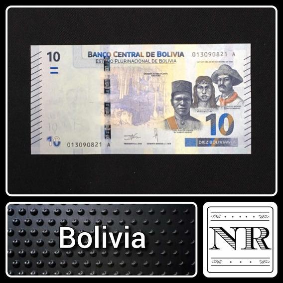 Bolivia 10 Bolivianos Año 2018 - Nuevo Diseño