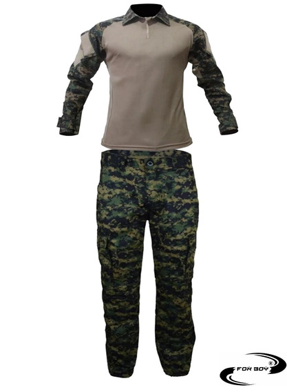 Farda Tatica Moda Militar Airsoft Caqui\marpat Fox Boy