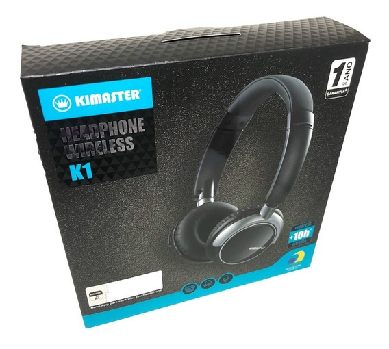 Fone Headphone Bluetooth Kimaster K1 Original