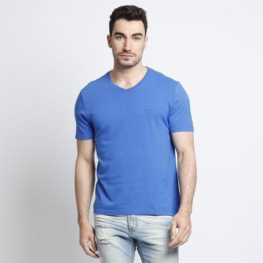 Camiseta Logo Guess® Azul Royal Guess - Xxg