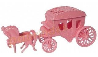 Carruagem Acrílica Rosa - Para Lembrancinhas - Kit 10 Un