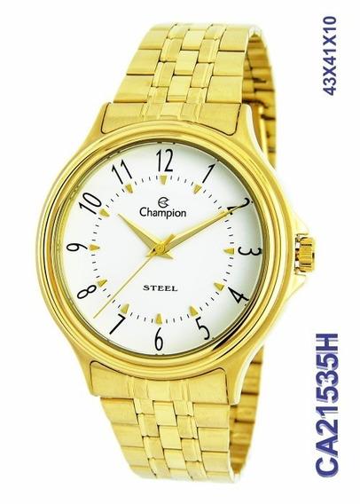 Relógio Masculino Champion Dourado Aço Ca21535h