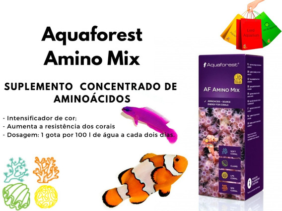 Af Amino Mix Aquaforest Aminoácido Para Corais 10ml