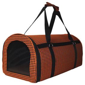 Bolsa De Transporte P/ Cães Gatos Furões Nylon Pequena Rf03
