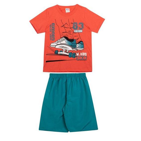 Conjunto Infantil Masculino Camisa E Bermuda W.kids Skate1