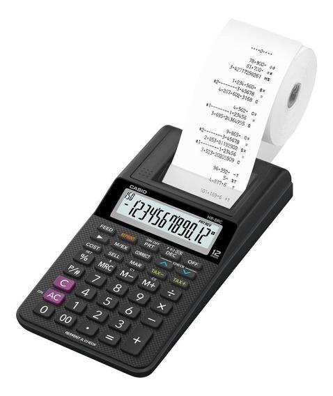 Calculadora Com Bobina Casio Hr-8rc A Pilha Impressora Nota