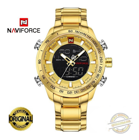 Relógio Masculino Naviforce Digital E Analógico Modelo 9093