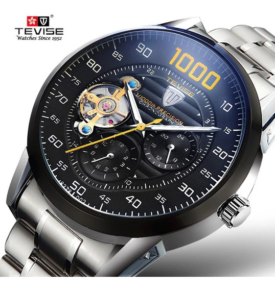 Relógio Automático Tevise Turbilhão 1000 Pronta Entrega
