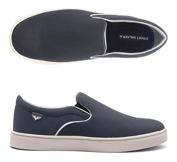 Tênis Masculino Slip On Sapatênis Casual New Style Chumbo