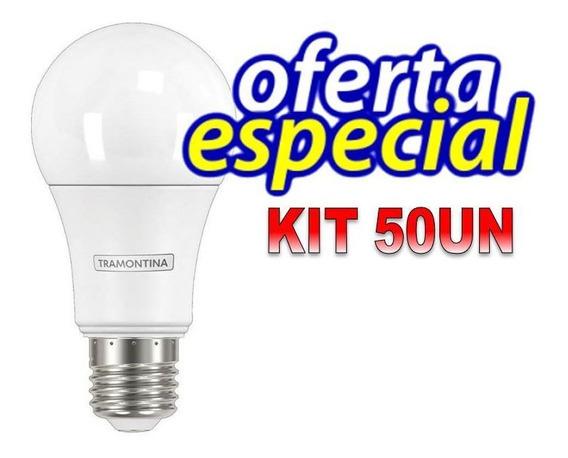 Kit 50 Lâmpadas Bulbo 8,8w Am Quente E27 Bivolt Tramontina