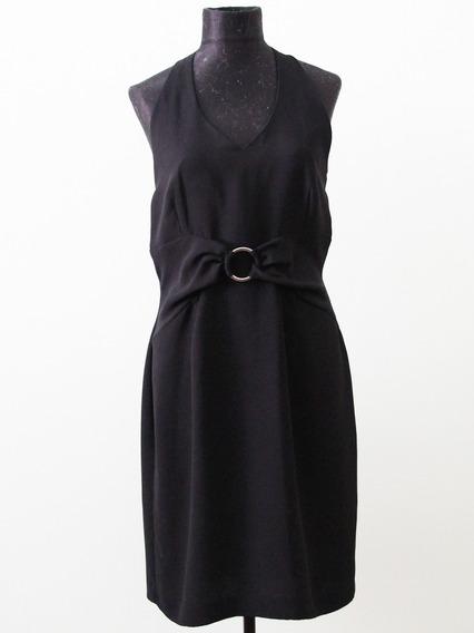 Vestido Negro Color Negro Petite Collection Poliester - Envi