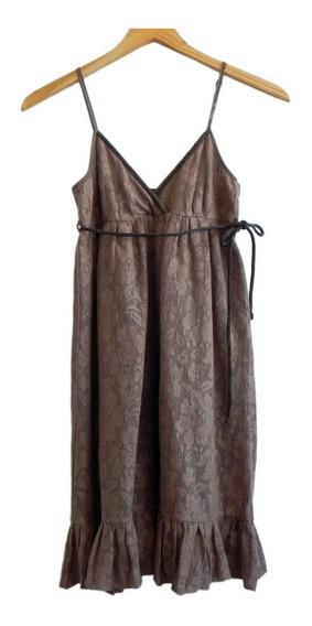 Vestido Solera Color Tostado Marca Bershka (usado)#roa