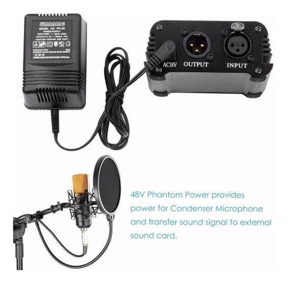Fantom Phantom Power 48v Profissional Microfone Condensador