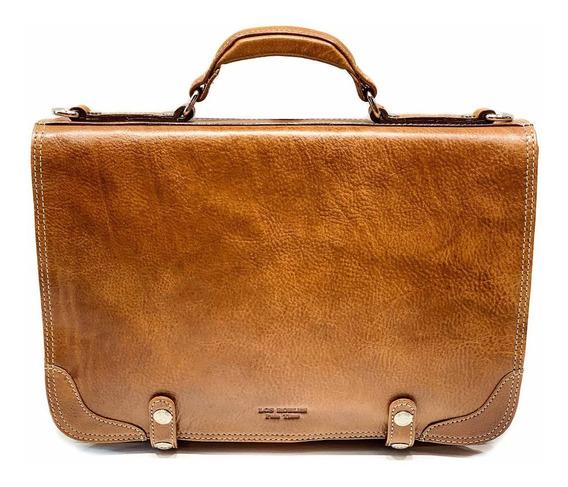 Maletin Portafolio Cuero Hombre Porta Notebook 15.6´ Tamaño Oficio 2 Divisiones Correa Ajustable Ejecutivo Modelo 0861