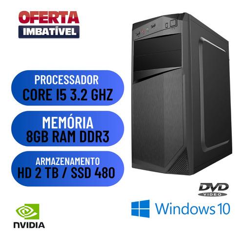Imagem 1 de 2 de Computador I5 8gb Ssd 480 + Hd 2tb Win10 Nvidia 2gb Oferta.