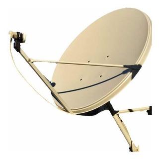 Antena Satelital De 90 Banda Ku + Soporte