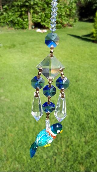 Ornamento De Cristal - Murano - Arara Tocantins
