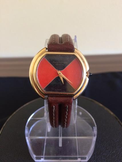 Relógio De Pulso Feminino Jean Vernier Corda Plaque De Ouro